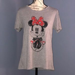Disney Minnie Mouse T-shirt in Gray Size L